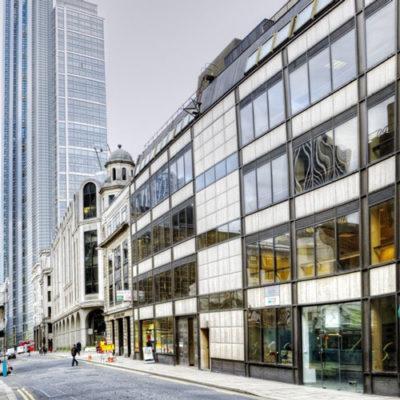 22 Bevis Marks office block facade London EC3